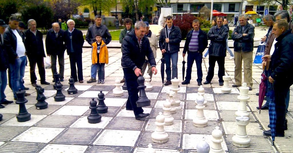 Partie d'échecs à Sarajevo