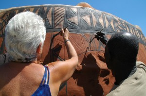 Peinture kassena Burkina Faso