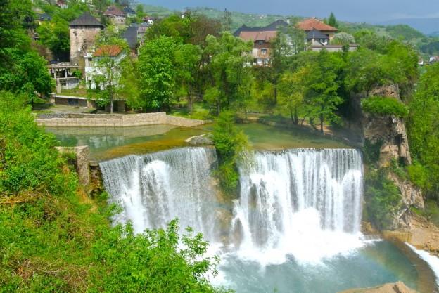Chutes de Jajce en Bosnie